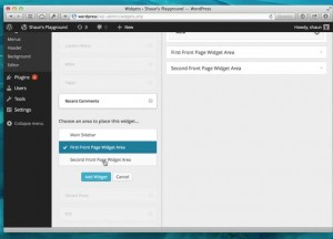 wordpress 3.8 eidget area